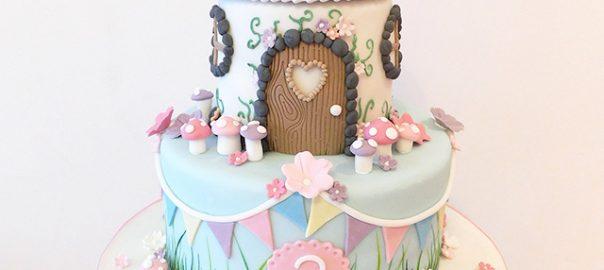 2 Tier Fairy House Cake