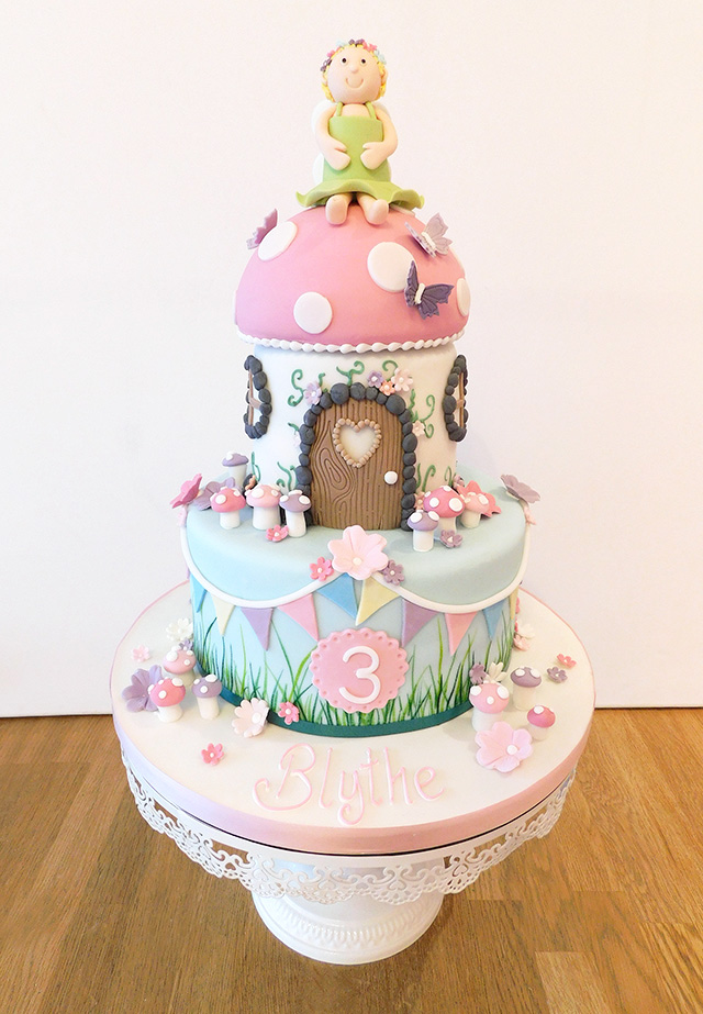 2 Tier Fairy House Cake