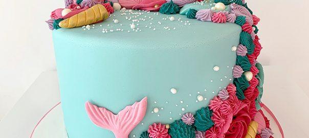 Amazing Colourful Mermaid Cake