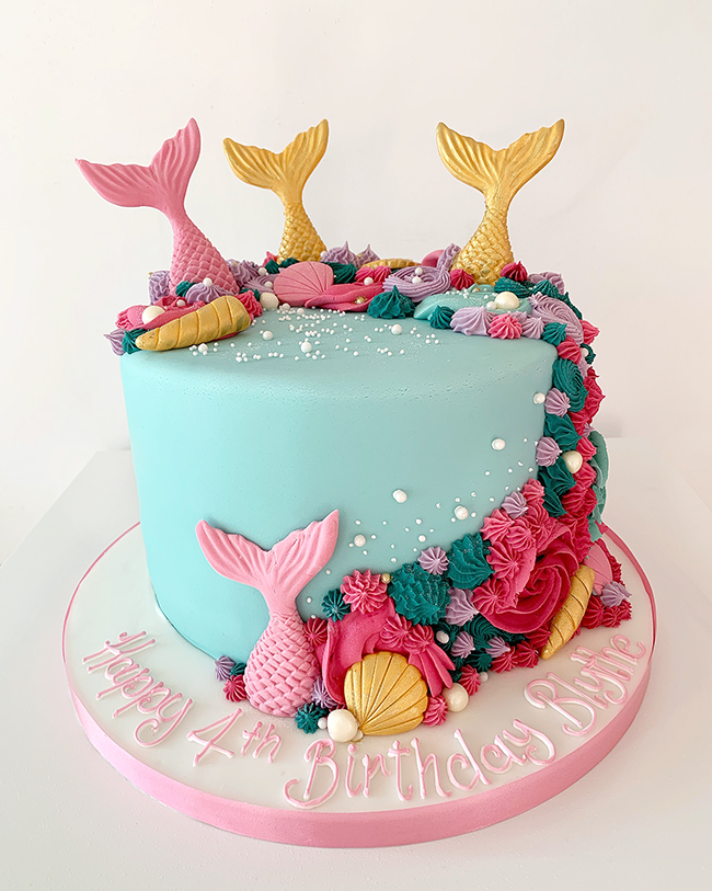 Amazing Colourful Mermaid Cake