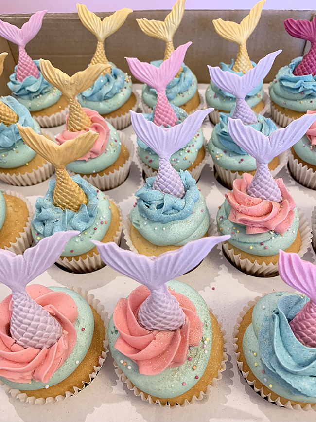 Amazing Colourful Mermaid Cupcakes