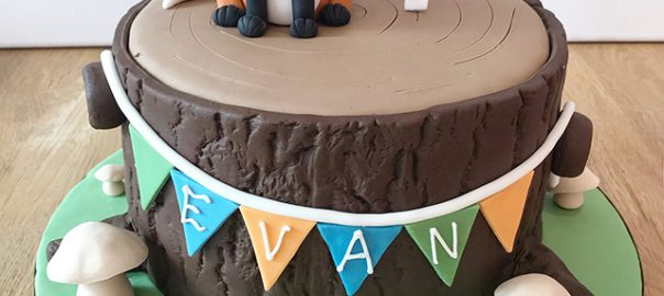 Fox 1st Birthday Cake