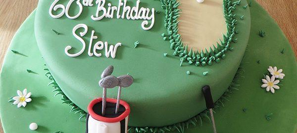 Golf 60th Birthday Cake