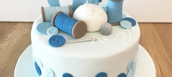 Sewing Kit 60th Birthday Cake