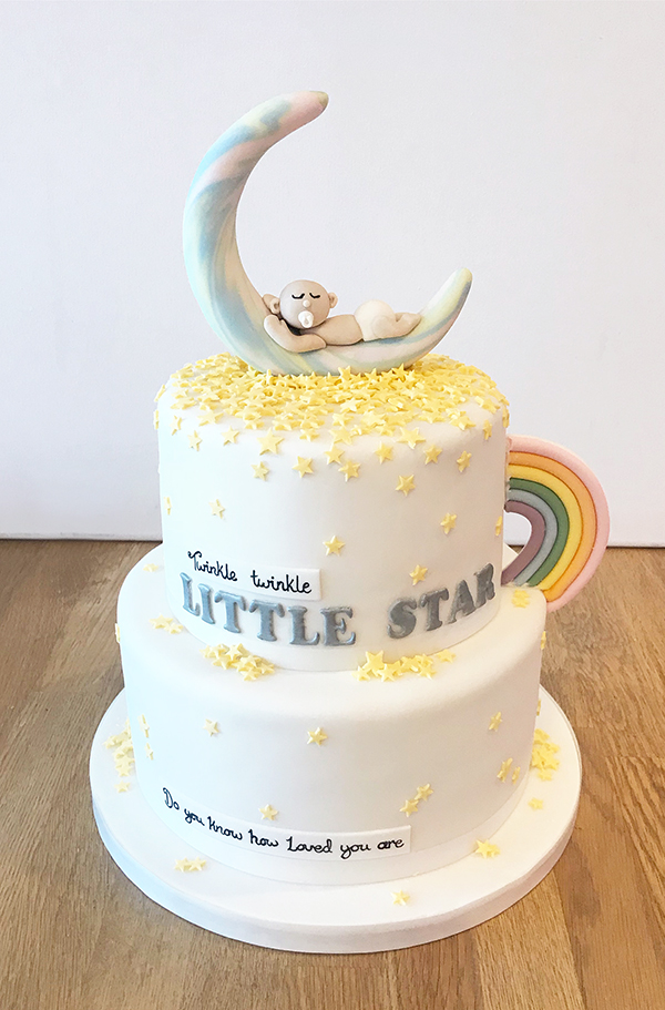 Twinkle Twinkle Christening Cake