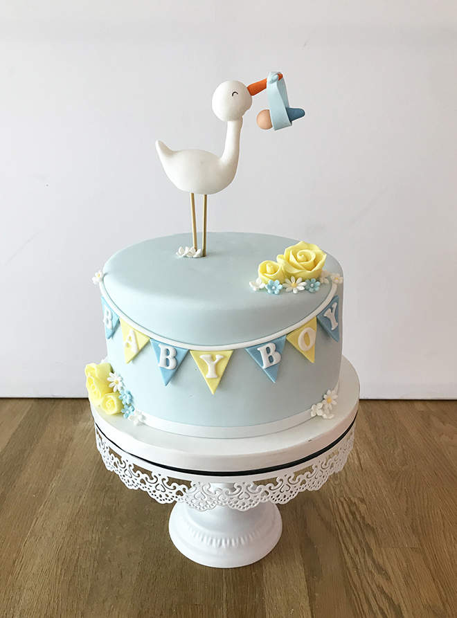 New Baby Boy Cake with Stalk