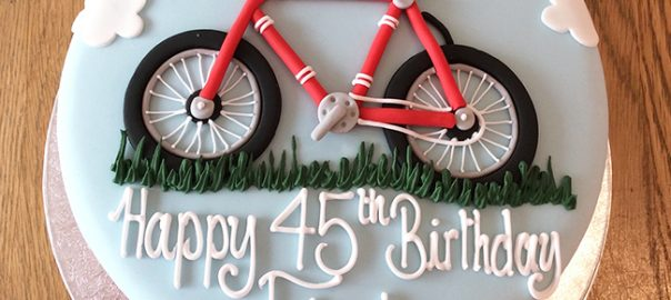 Red Bicycle Birthday Cake
