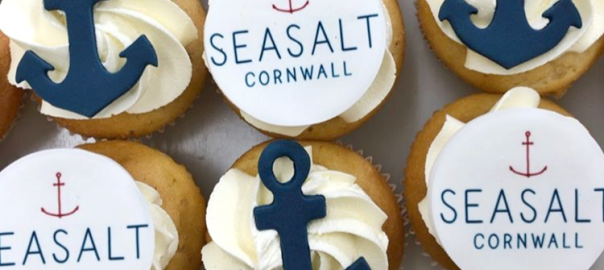 Nautical Corporate Cupcakes