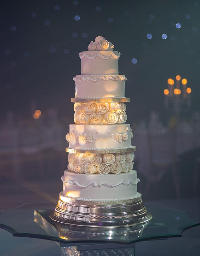 4 Tier Ivory Asian Wedding Cake