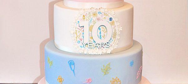 Neals Yard Anniversary Corporate Cake