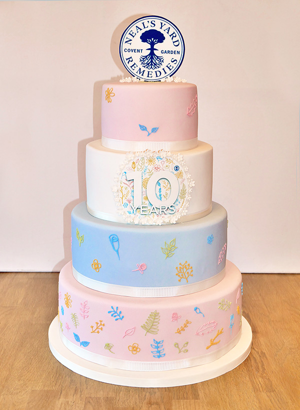 Neals Yard Anniversary Corporate Cake