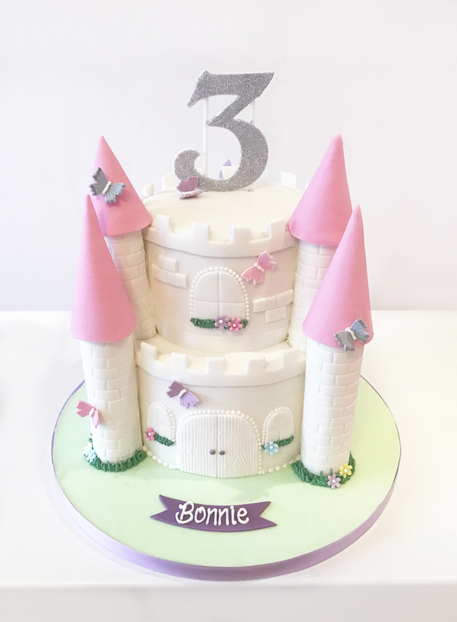Miraculous Princess Castle 3Rd Birthday Cake The Cakery Leamington Spa Funny Birthday Cards Online Alyptdamsfinfo