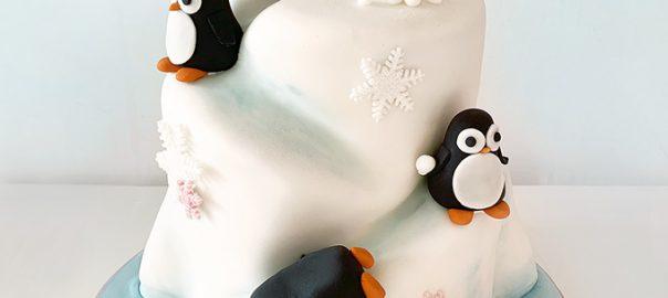 Penguin Iceberg Birthday Cake