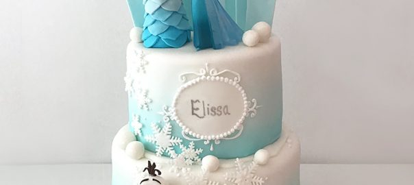 2 Tier Frozen Birthday Cake