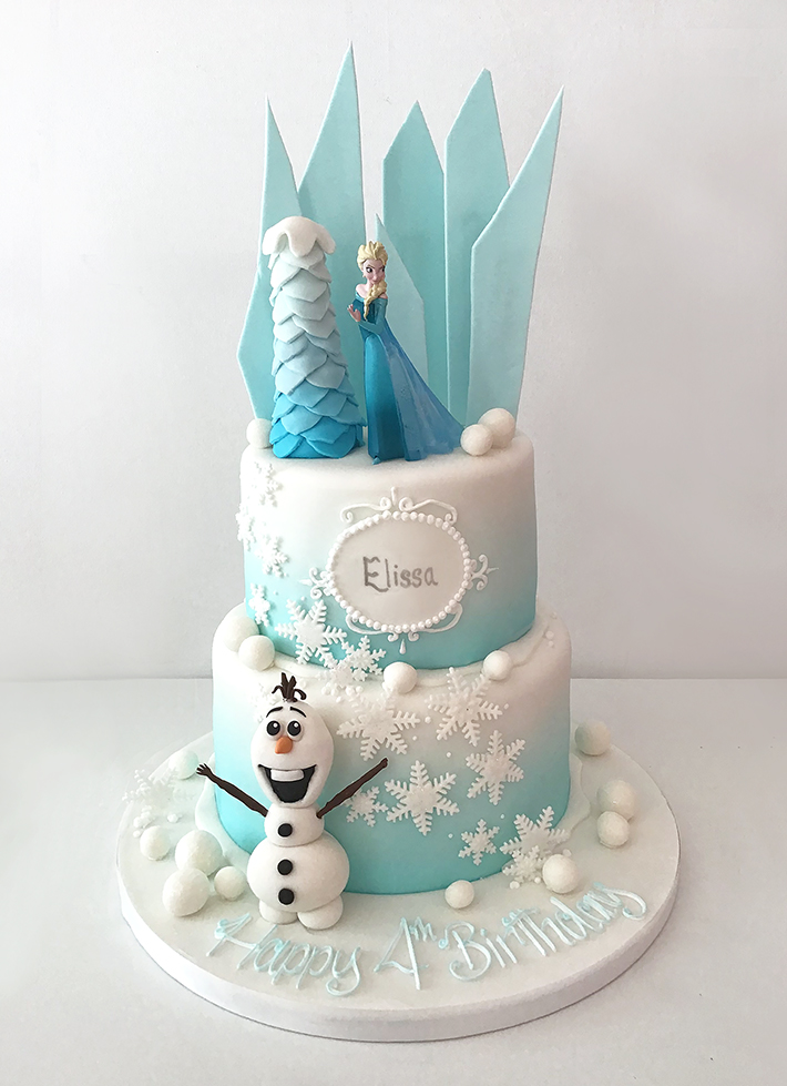 Excellent 2 Tier Frozen Birthday Cake The Cakery Leamington Spa Birthday Cards Printable Opercafe Filternl
