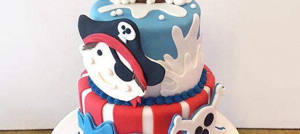 2 Tier Pirate Birthday Cake