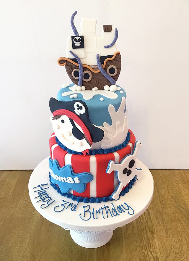 Incredible 2 Tier Pirate Birthday Cake The Cakery Leamington Spa Funny Birthday Cards Online Alyptdamsfinfo