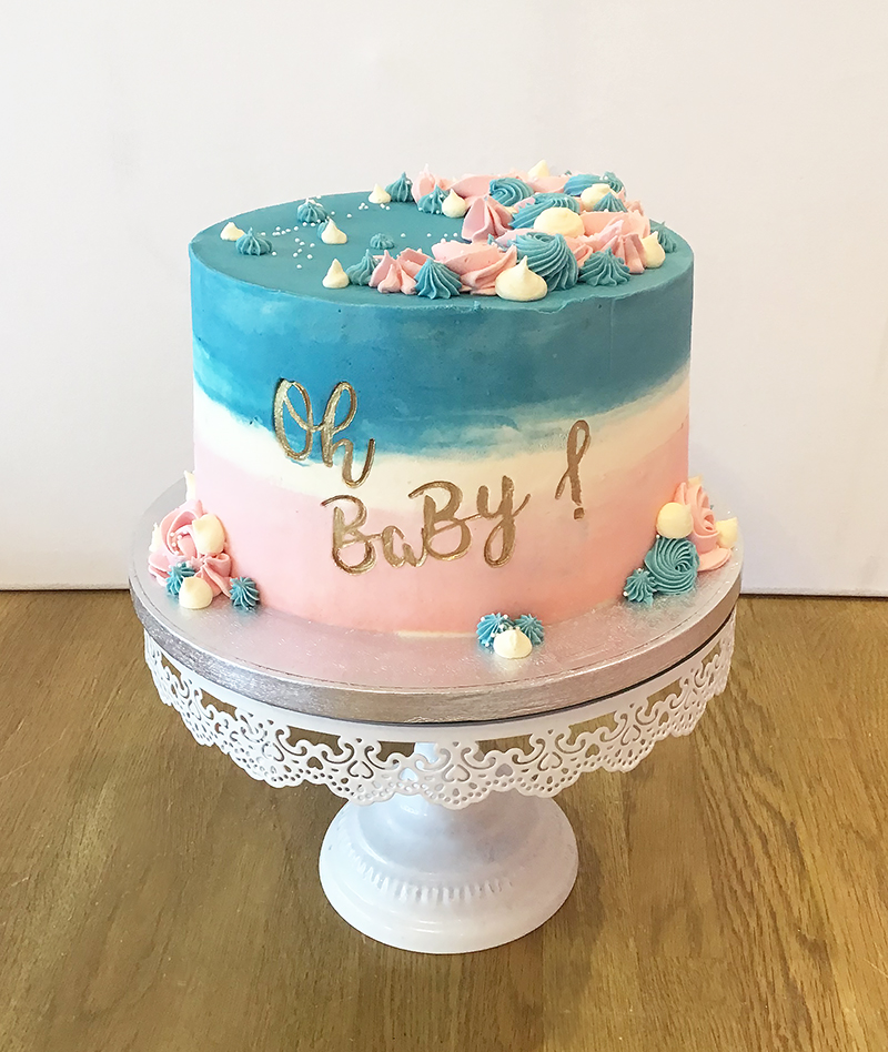 Oh Baby Gender Reveal Cake
