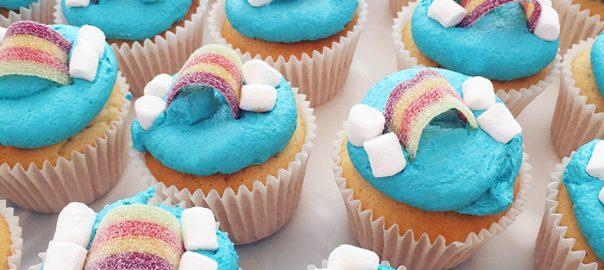 Fizzy Rainbow Cupcakes