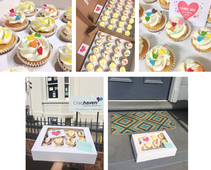 Cupcakes for delivery to key workers in Leamington Spa.