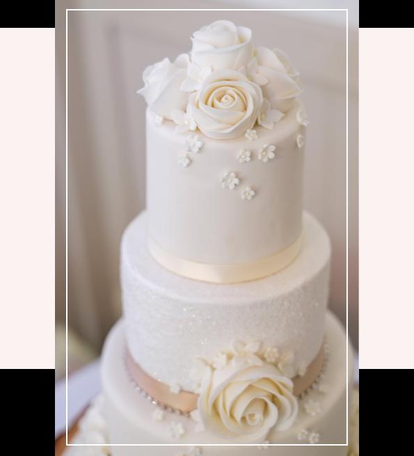 Ivory Wedding Cake Details