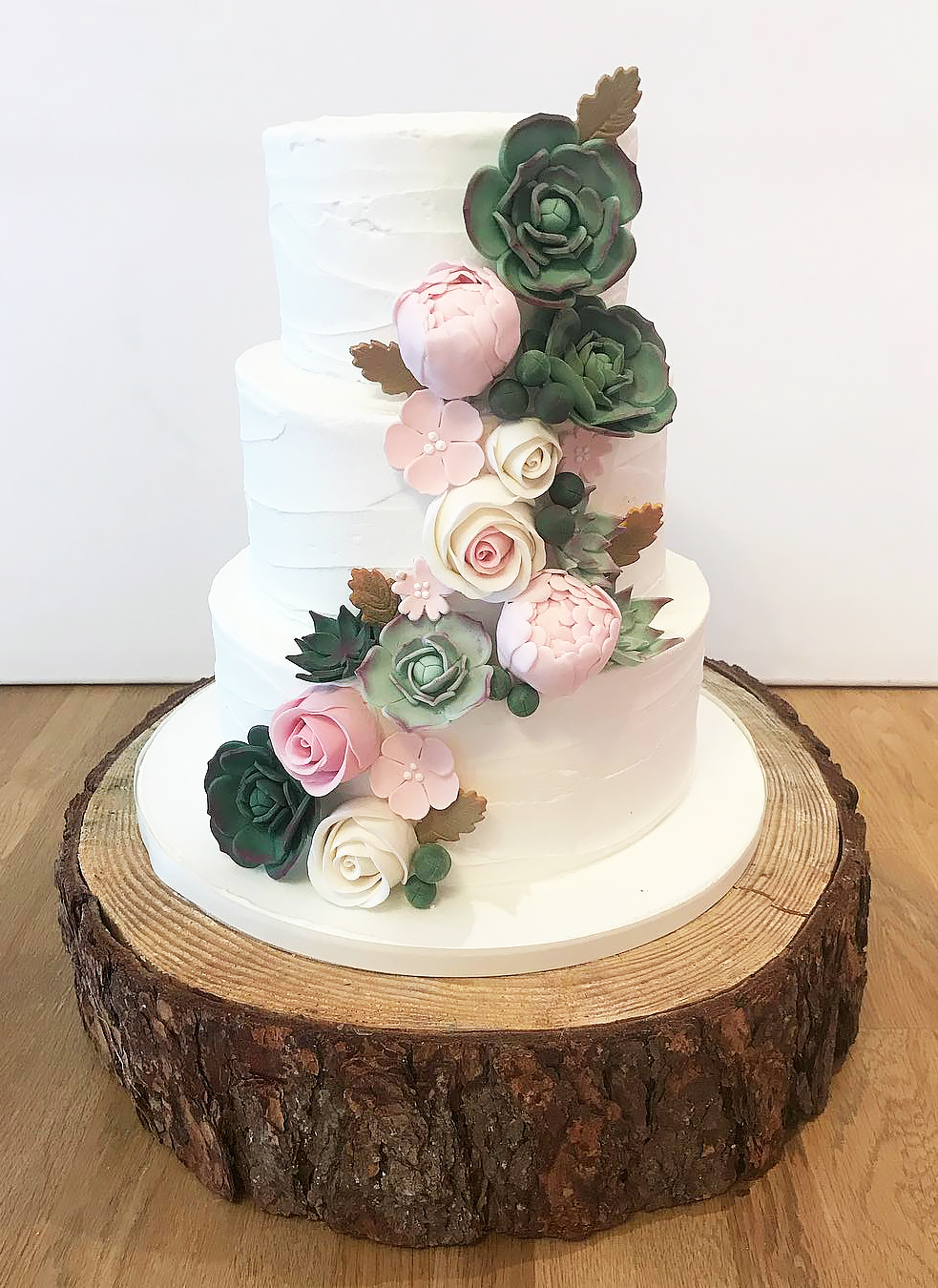 Succulent Flower Wedding Cake