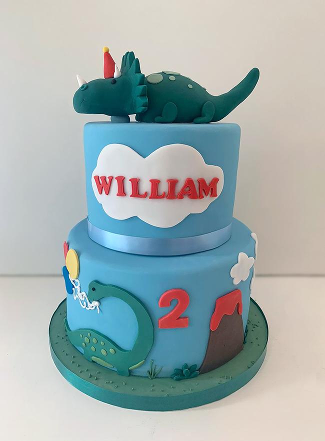 2 Tiered Dinosaur Cake