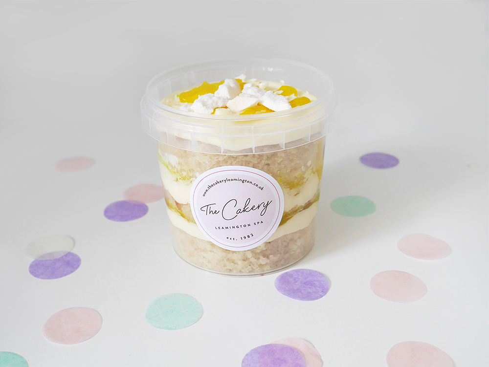 Lemon Meringue Cake Tub