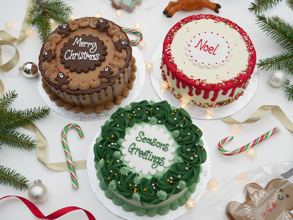 The Cakery Mini Christmas Cake Range