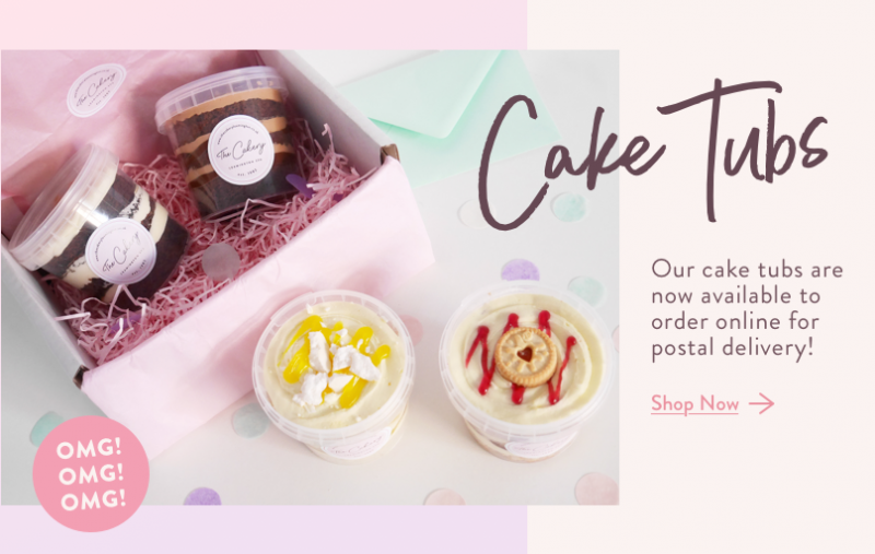 Cake Tubs by The Cakery Now Available to order online