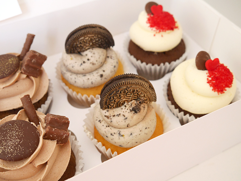 Chocolate Lovers Box of Cupcakes Close 1 The Cakery