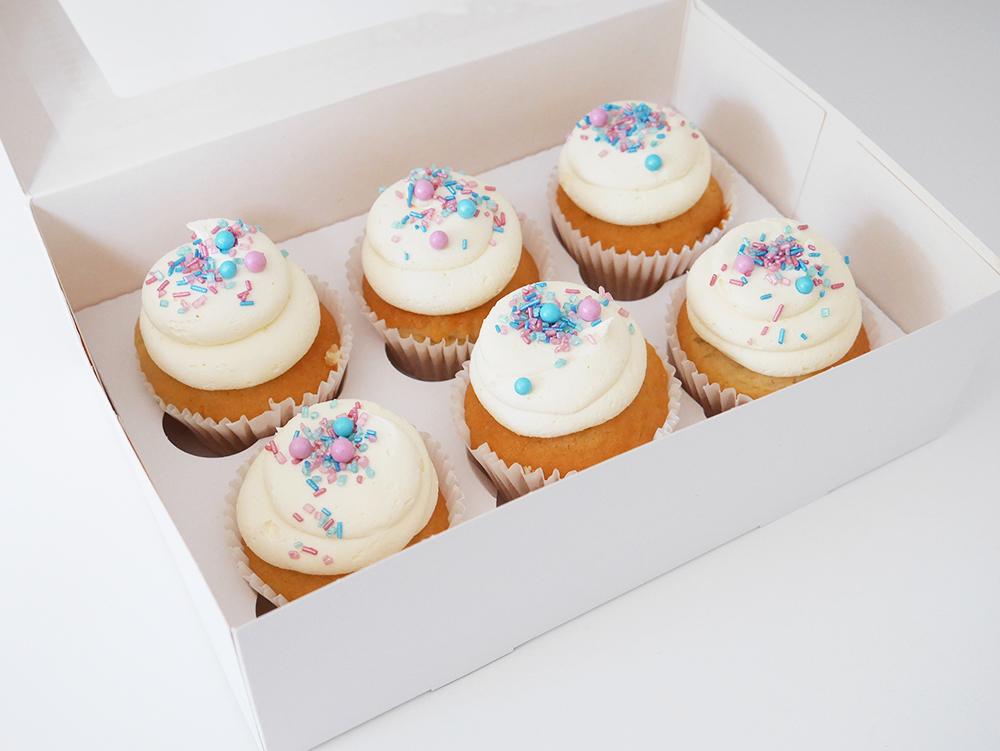 Box of 6 Gender Reveal Cupcake