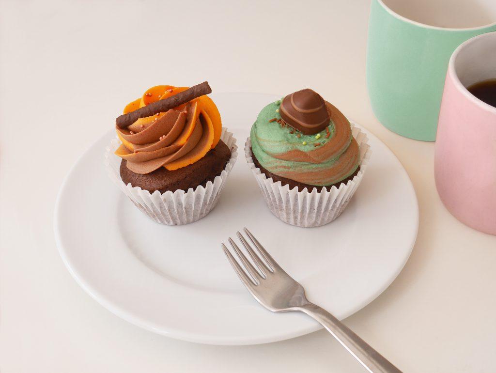 Chocolate Orange and Choc Mint Cupcakes