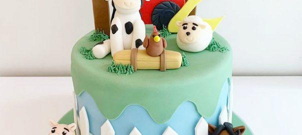 Farm Animals Birthday Cake