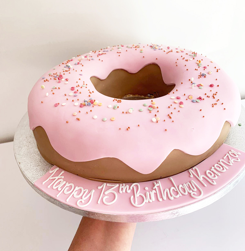 Giant Pink Donut Cake