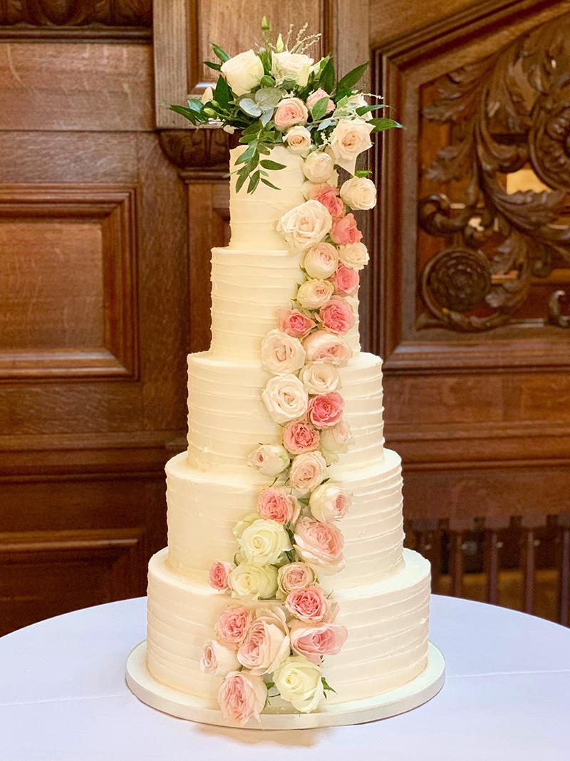5 Tier Wedding Cake at Bourton Hall